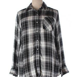 Plaid Rayon Shirt